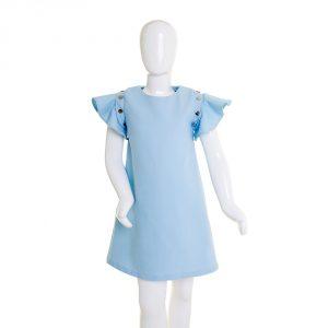 lola starr Baby Blue Denim Dress