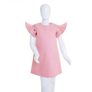 lola starr Baby Pink Denim Dress