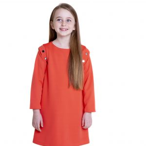 Coral dress long sleeves