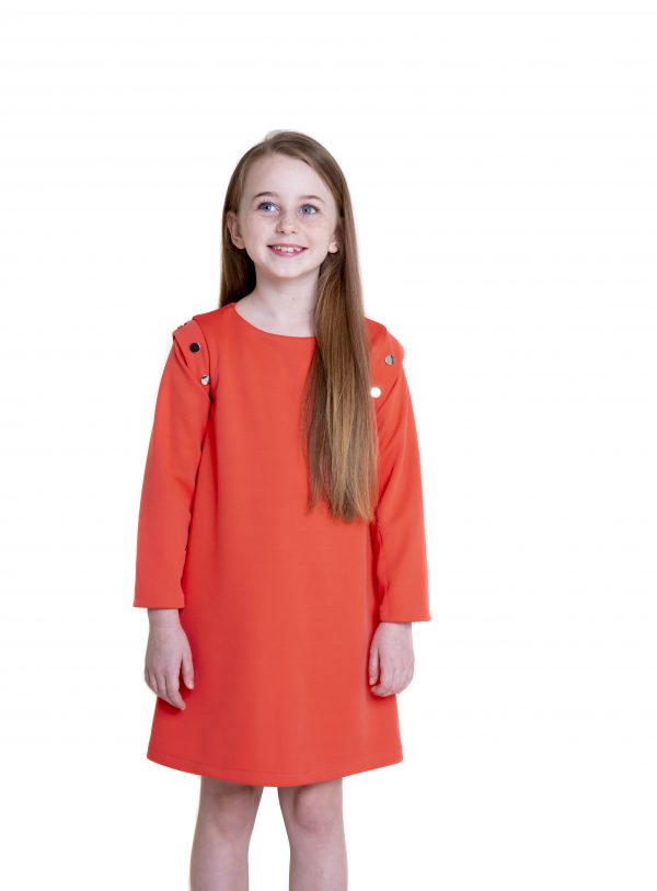 Coral dress long sleeves