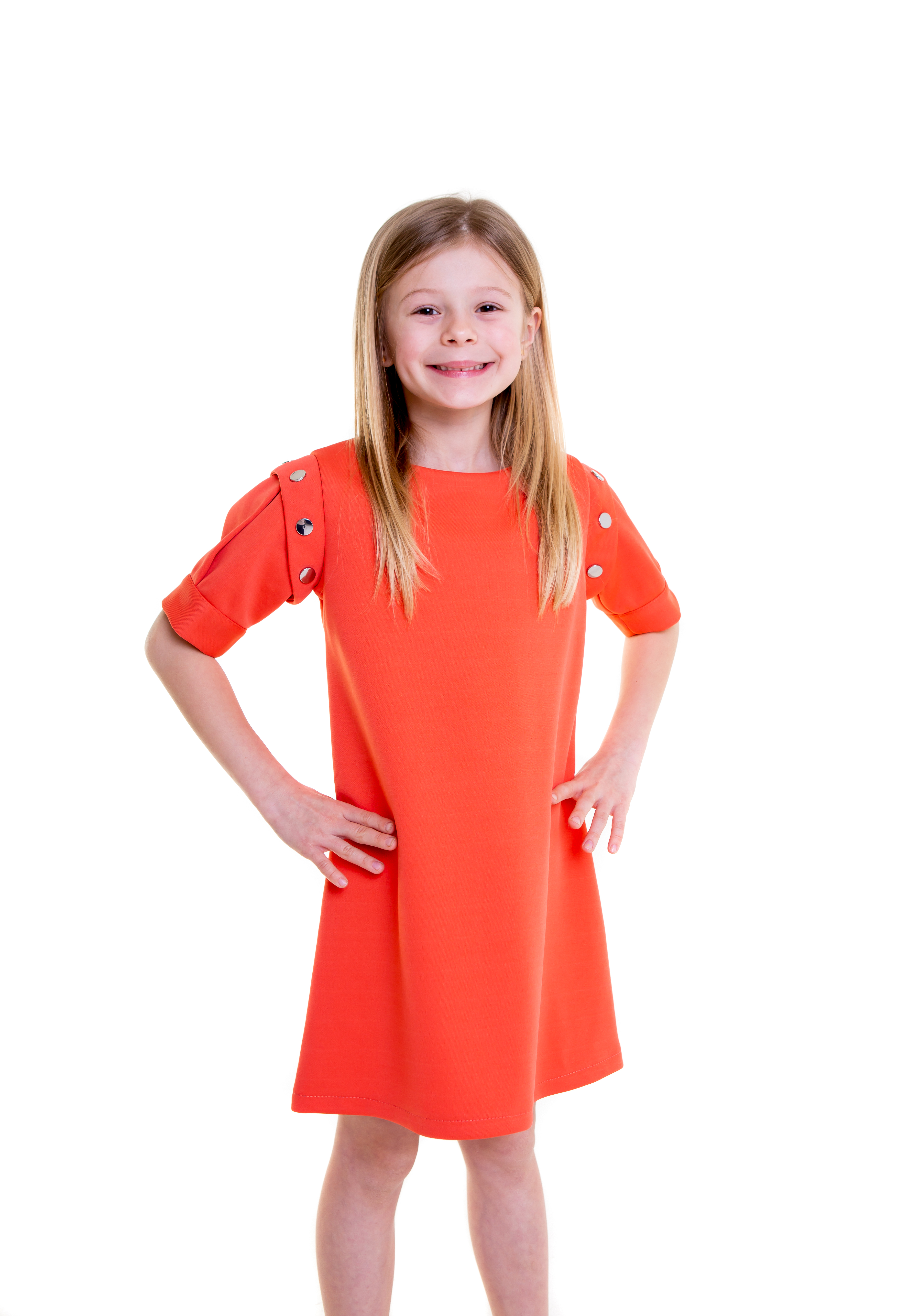 lola starr coral dress short sleeves