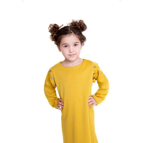 lola starr Pop Mustard Dress