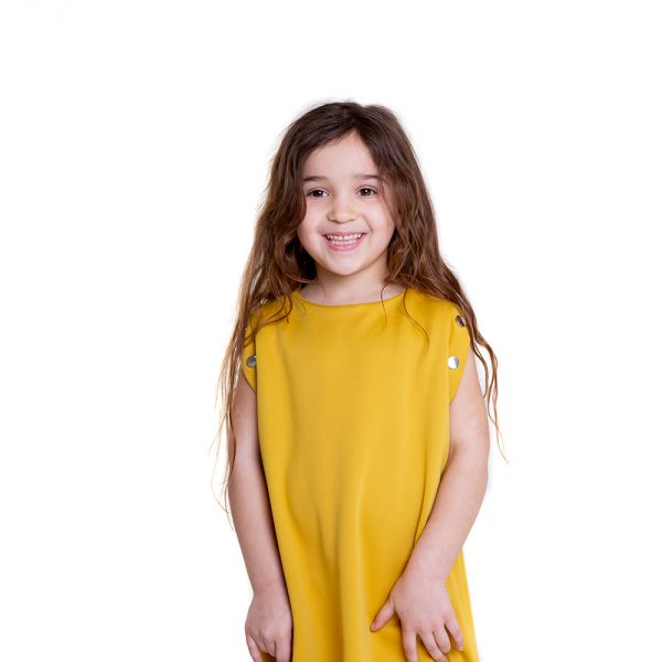 lola starr Pop Mustard Dress
