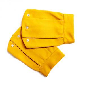lola starr Mustard Short Scuba Sleeve