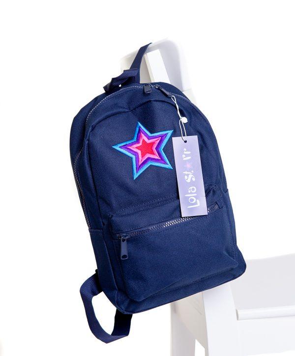 lola starr Navy Backpack