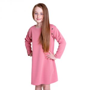 lola starr Pink Long Scuba Sleeve