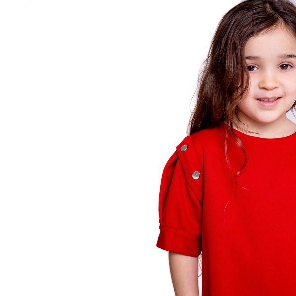 lola starr red pop short sleeve