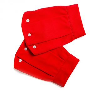 lola starr Red Short Scuba Sleeve