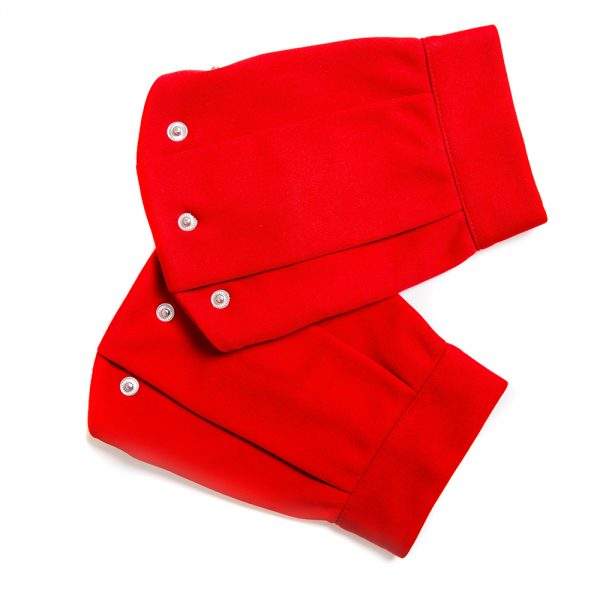 lola starr Red Short Scuba Sleeve
