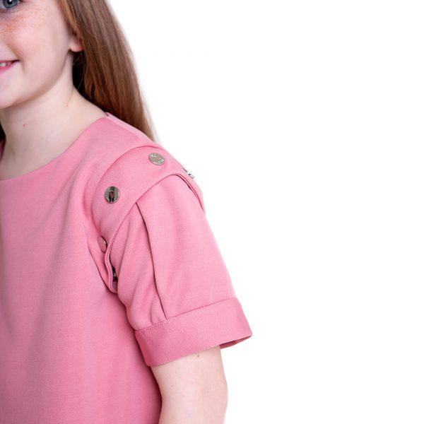 lola starr Pink Short Scuba Sleeve