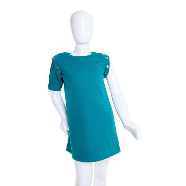 lola starr Pop Teal Dress