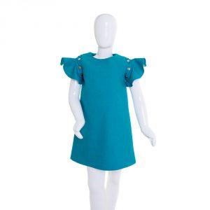lola starr Turquoise Denim Dress