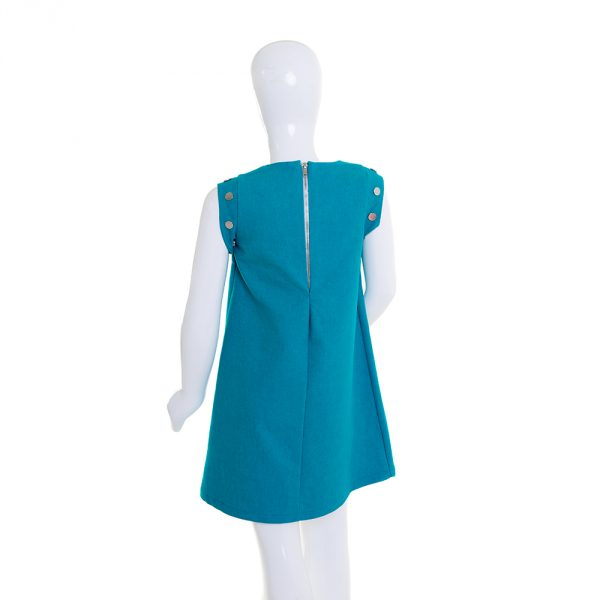 lola starr Turquoise Denim Dress