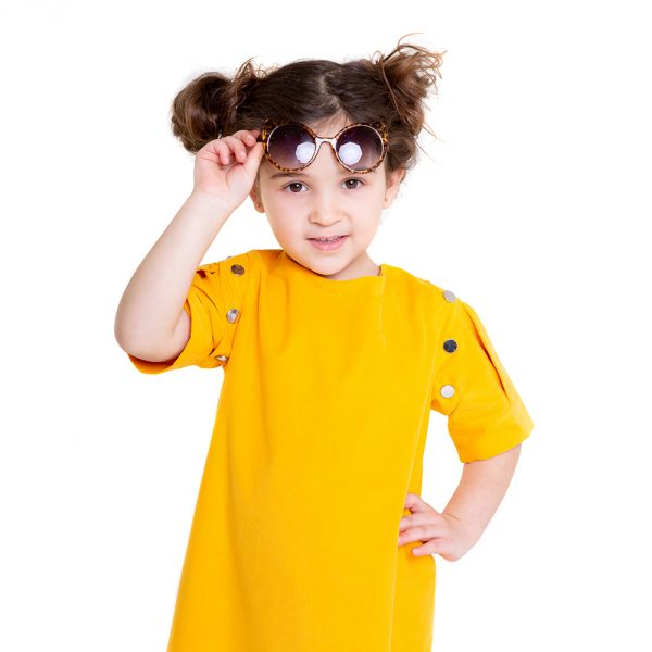 lola starr Yellow Baby Cord Short Sleeve