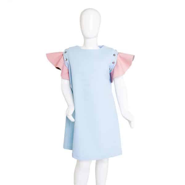 Lola Starr Pink Flouncy Sleeve