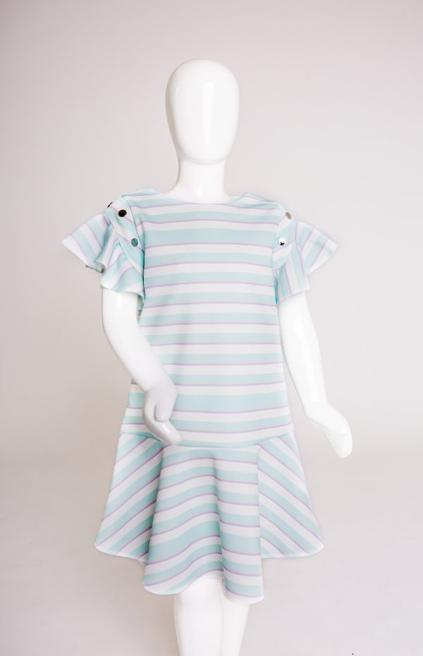 Stripe dress scuba mannequin