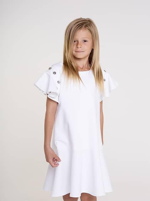 White dress 2020 peplum