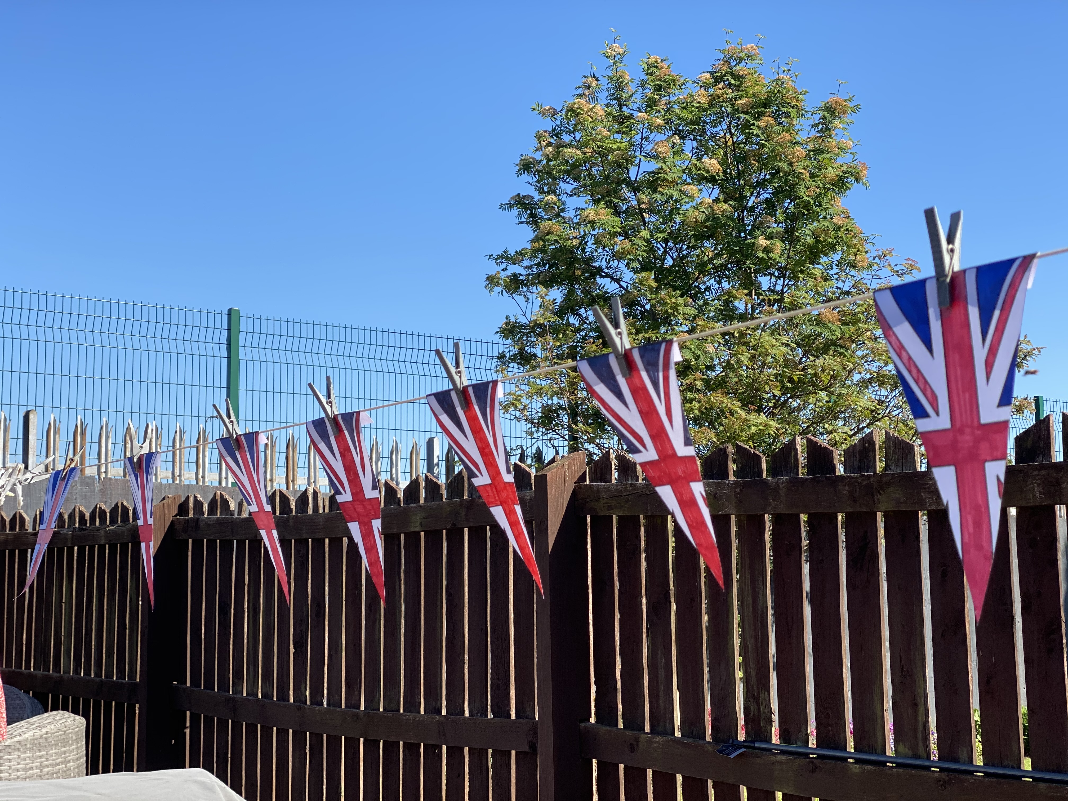 VE day flags