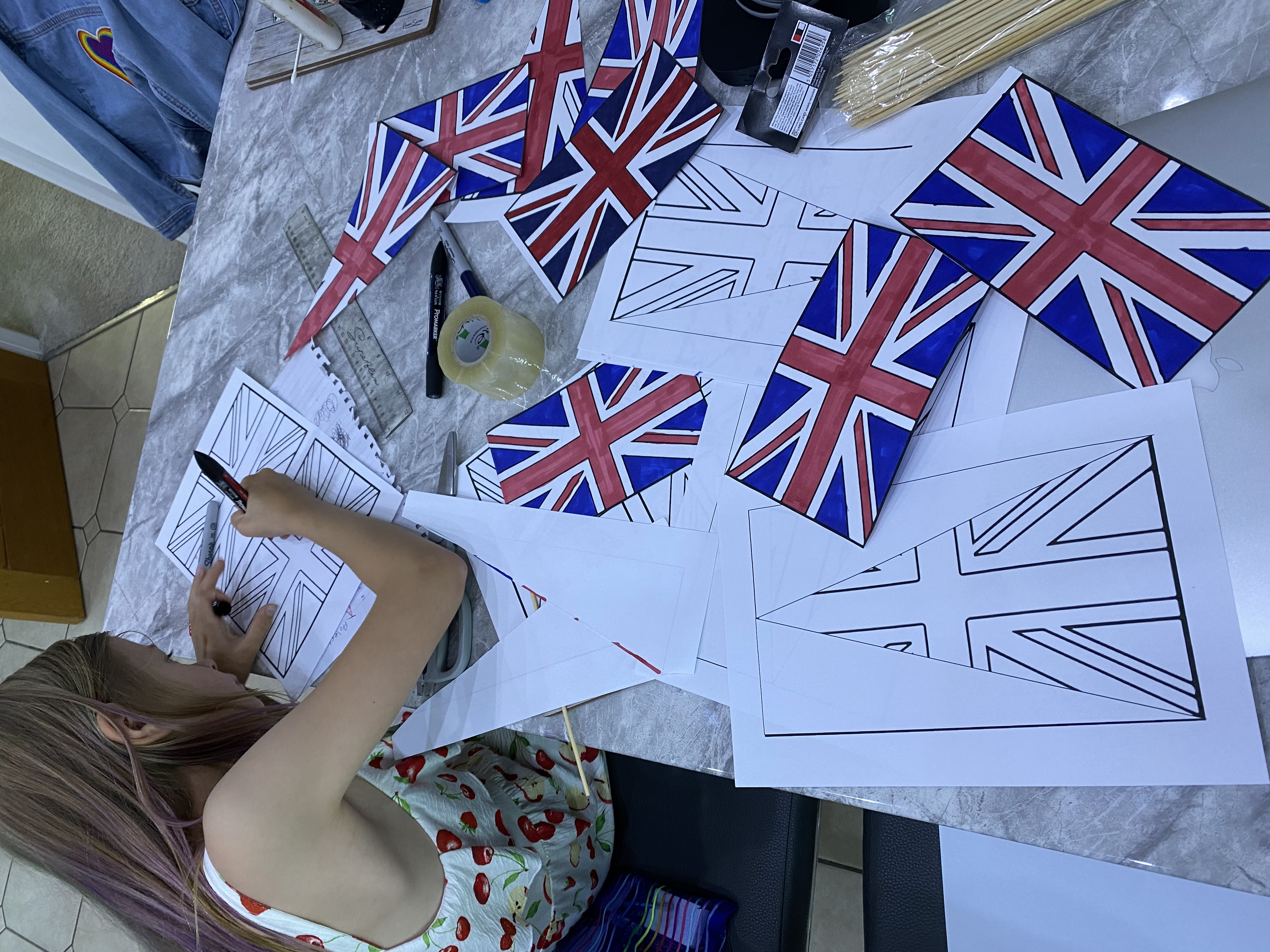 Colouring flags