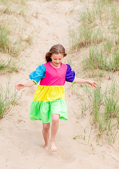 Rainbow dress running