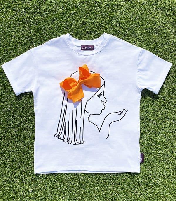 Orange bow t-shirt