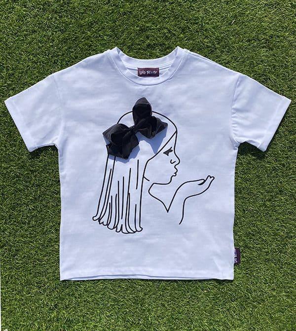 black glitter bow t-shirt