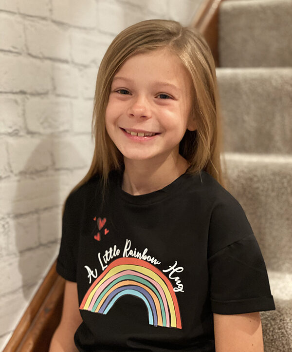 Rainbow tee black