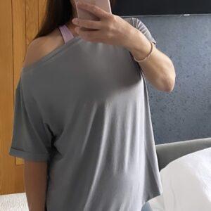 oversized slash neck t-shirt